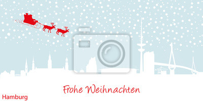 Vinilo Weihnachtskarte Hamburgo