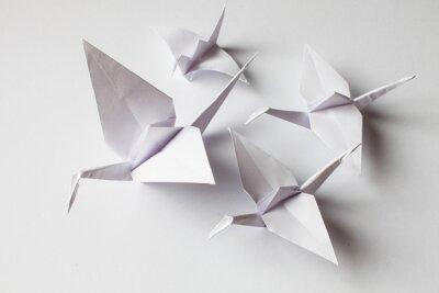 Vinilo White crane handmade