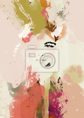 Vinilo Woman face beauty