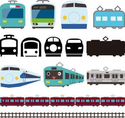 Vinilo 電車 と 新 幹線 の ア イ コ ン と ラ イ ン