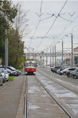 Vinilo Трамвай в начале Волоколамского шоссе (Москва)