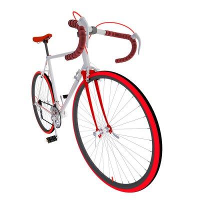 Vinilo Велосипед на белом фоне