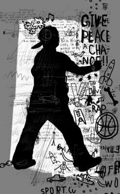 Vinilo Уличный художник