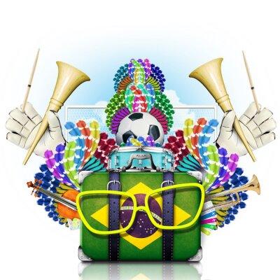 Vinilo Brasil, el campeonato mundial de fútbol, fiesta y un carnaval