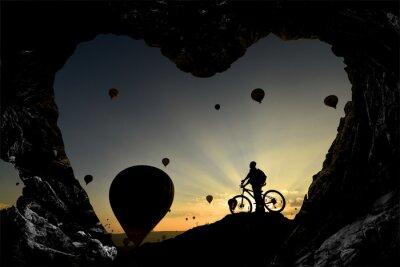 Vinilo Mağara deliklerinden balonlara bakış