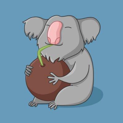 Vinilo сoco coala (fondo azul)