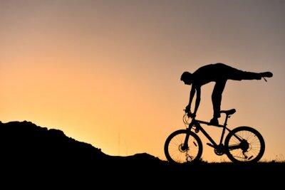Vinilo Sıradışı bisikletçi silüet
