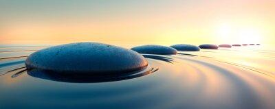 Vinilo Steine im Wasser 3