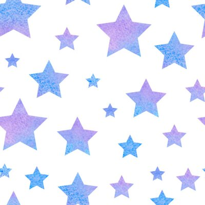 Vinilo watercolor сute seamless pattern night sky for the textile fabric or wallpaper.