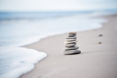 Vinilo Yoga - Bienestar - Steine am Nordseestrand