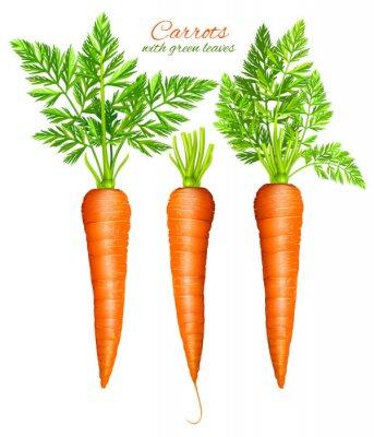 Vinilo Zanahorias con hojas