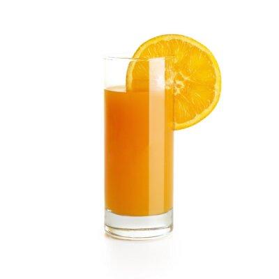Vinilo Zumo de naranja con una rodaja